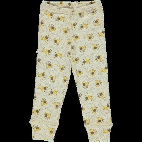 Leggings Basilic, coloris Almond Milk Fleurs. Poudre organic