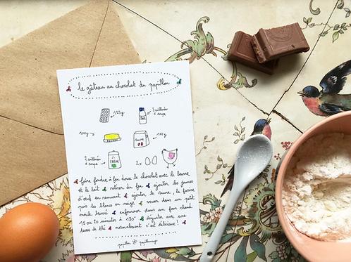 Carte Le gâteau au chocolat du papillon