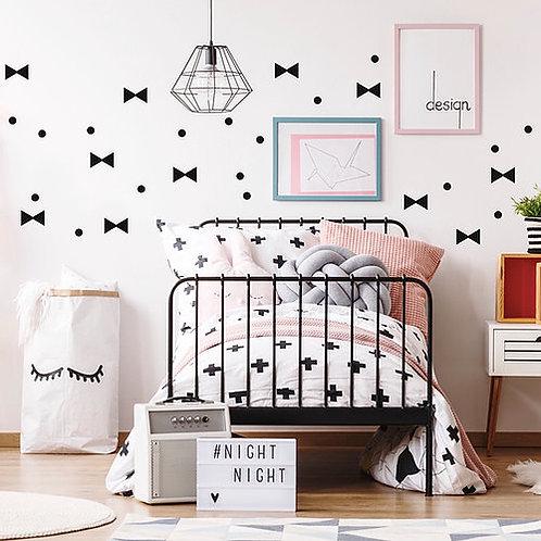 Noeuds et pois wall stickers - Pom Le Bonhomme