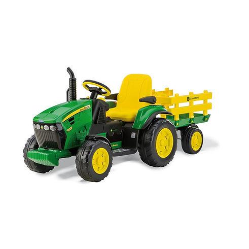 Elektrický-traktor-s-vlečkou-John-Deere-