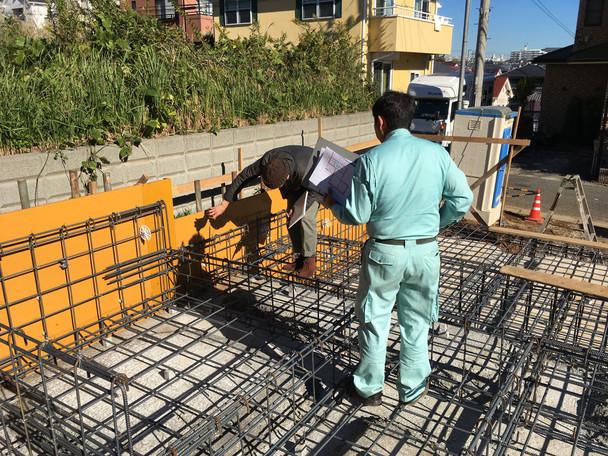 厚木の住宅 基礎工事② 配筋検査