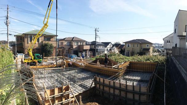 厚木の住宅 基礎工事③