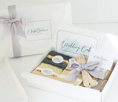 Cake sample boxes now available for this