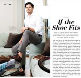 Eredità Shoes Featured in Men's Book