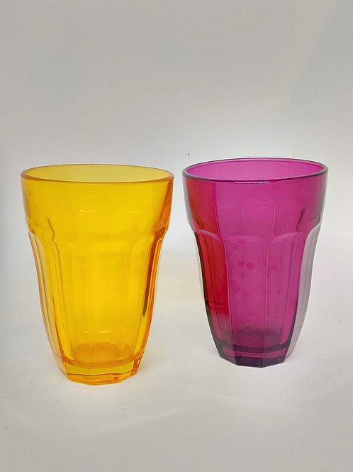 Copos vidro colorido