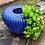 Thumbnail: Vaso de vidro azul indigo