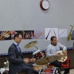 George Oro Jazz at Lincoln Center with Wynton Marsalis -Arab Percussion-Frame Drum-Darbuka- Dohulla- Riq- Drums