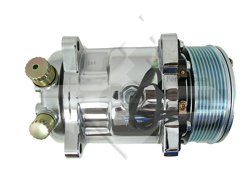 AC Compressor Serpentine, Silver Clutch SANDEN 508