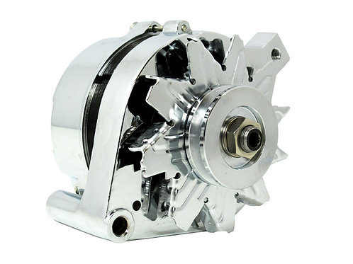 Ford 1G Style 110amp 1 Wire Alternator – Chrome