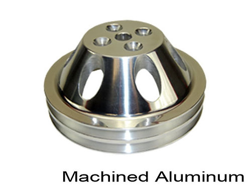 SBC Pulley, SWP, 955-1968, Double Grove, Polished