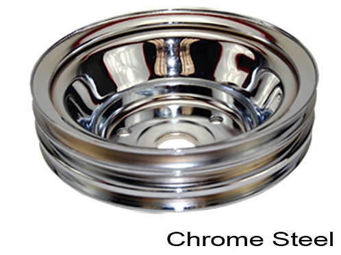 CHEVY SB LWPump Crankshaft pulley Chrome Steel