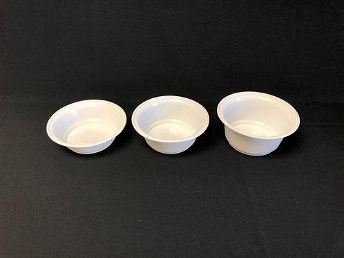 AHD Microwaveable Plastic Bowl (White), 300pc