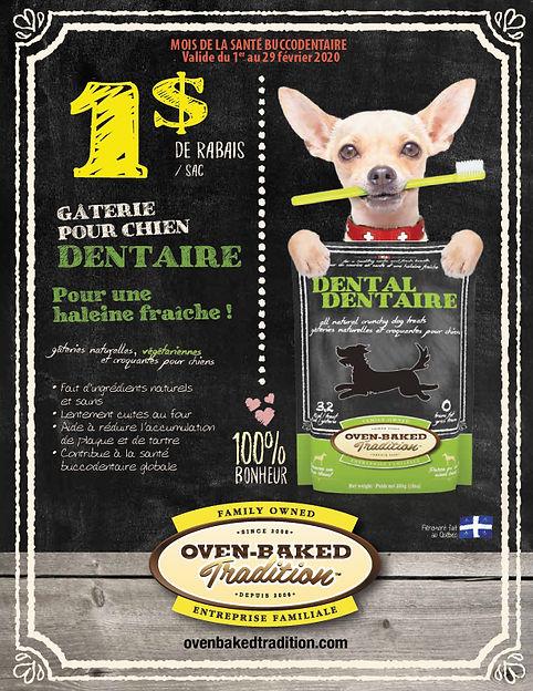 santé dentaire de votre chien avec Oven Baked Tradition