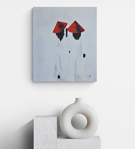 Mokup Au féminin - CaBro artiste peintre québécois - art figuratif