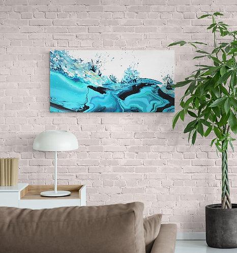 Mokup Valse tropicale - Isabelle Plante artiste peintre art abstrait art figuratif