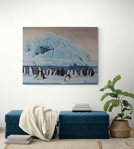 Mokup Antartique - Lou Auvray artiste peintre art Figuratif, animalier, surréaliste