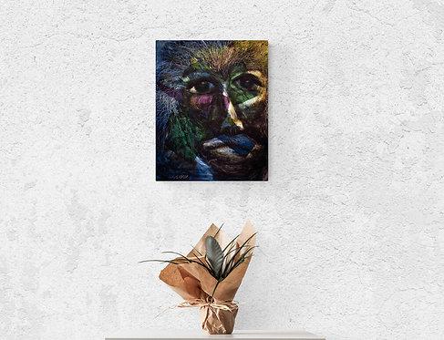 Mokup Dibia le guérisseur - Sylvie Fournier artiste peintre art figuratif