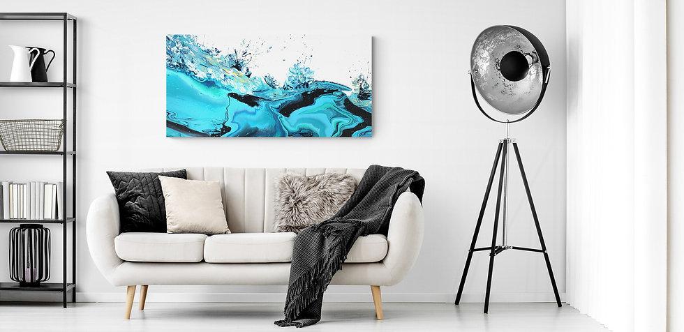 Oeuvre d'art de l'artiste peintre Isabelle Plante art abstrait