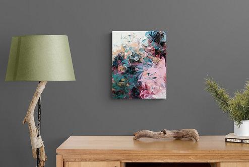 Mockup Récif de corail - Quenick artiste peintre québécoise - art abstrait