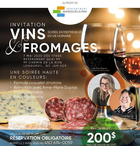 Soirée de levée de fonds Vins & Fromages 2020