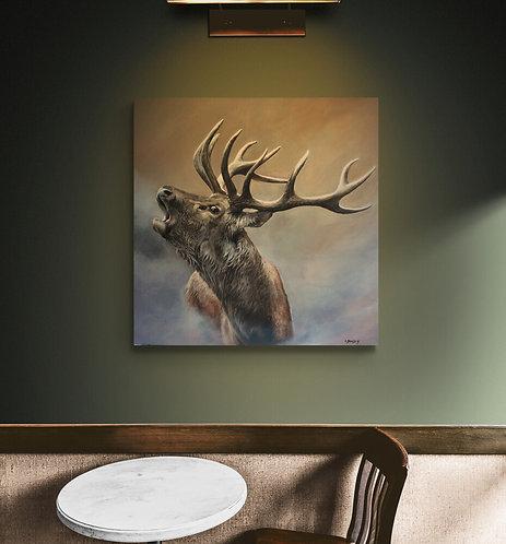 Mokup Le brame  - Christine Boudin art animalier