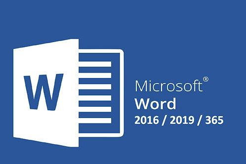 Formation Word 2016-2019 à télécharger