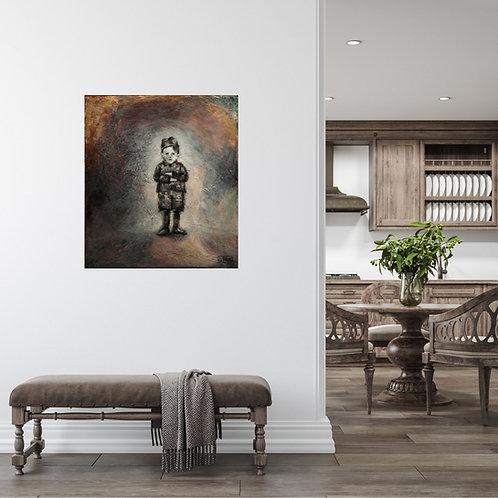 Mokup Le fils - D.Deblois artiste peintre