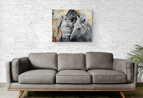Mokup The winning horse - Val Escoubet artiste peintre art figuratif et art réaliste