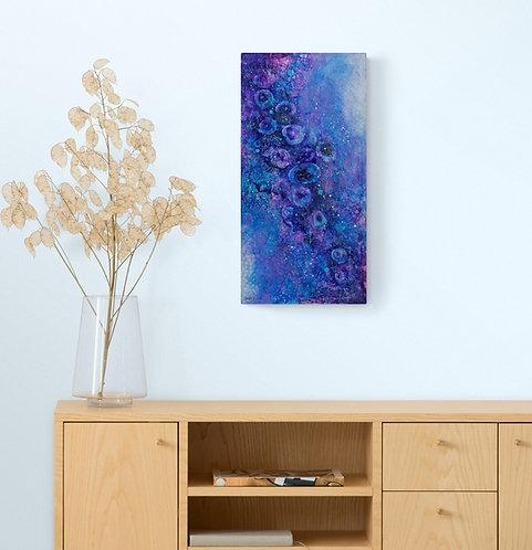 Mokup Anémones de mer bleu 1 - Gisèle Vivier  artiste peintre québécois - art abstrait