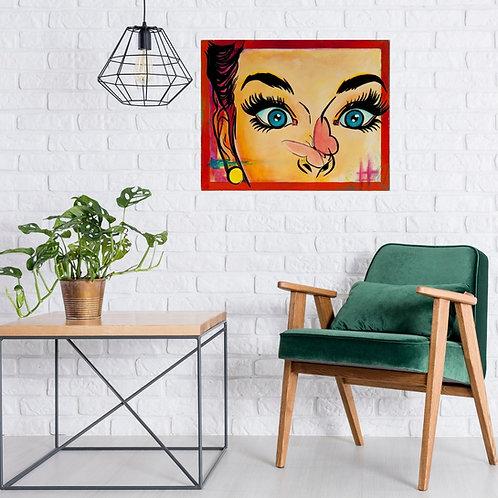 Mokup Oups - M.Roy artiste peintre art pop