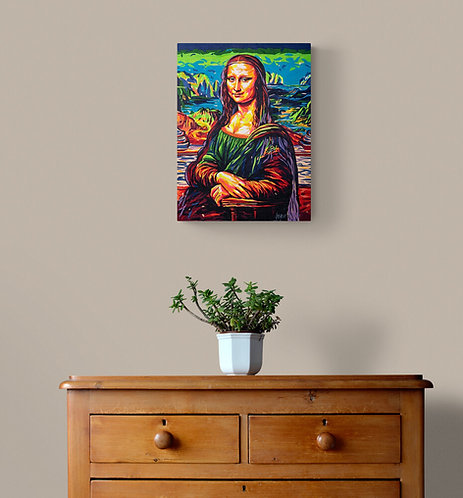 Mona in tape - René Bégin artiste peintre