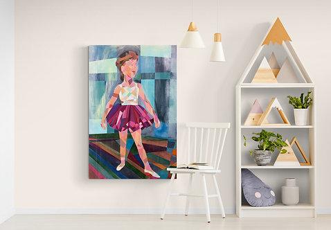 Mokup Ballerine - Charles Alexis artiste peintre cubisme