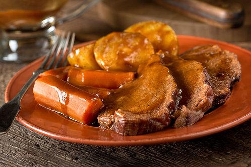 Roti de porc braisé