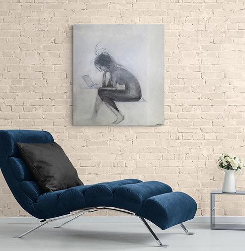Mokup Penseuse - C.Gagnon art figuratif