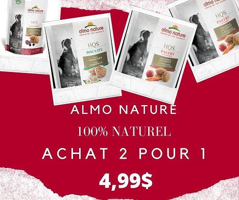 Promo almo nature chez Animal Expert St-Bruno