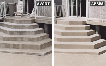 Escaliers acryliques Avant/Après