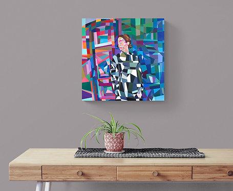 Mokup Juliette - Charles Alexis artiste peintre cubisme