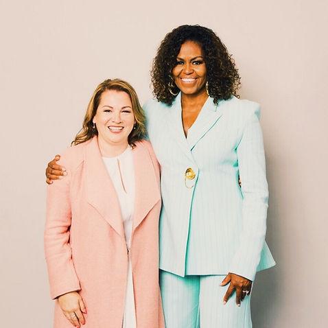 Aro artiste peintre et Michelle Obama