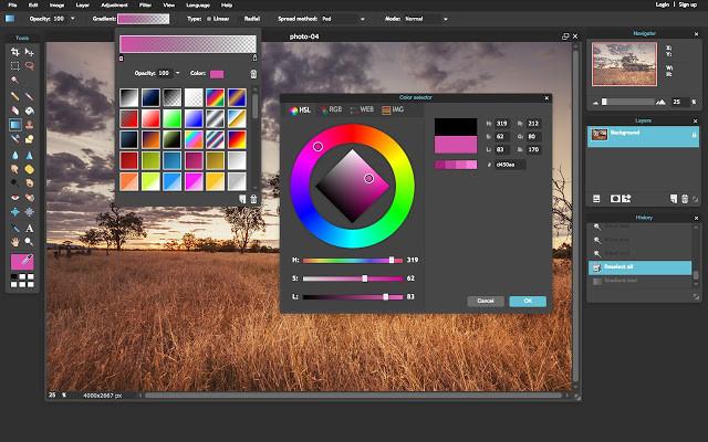 PixlR logiciel de retouche d'images en ligne