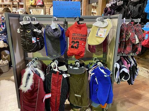Liquidation vêtements pour chien