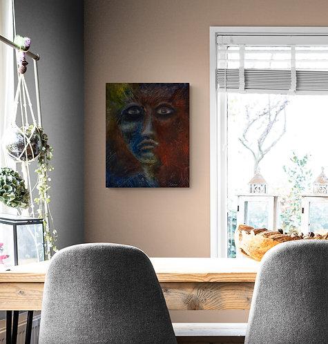 Mokup Kendi l'être aimé - Sylvie Fournier artiste peintre art figuratif