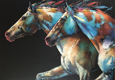 Liberté-Peinture de Andrée Marcoux-art animalier
