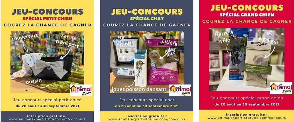 Jeux-concours Animal Expert St-Bruno