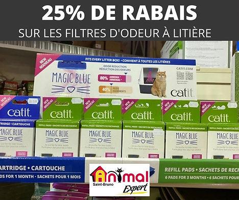 Promotion sur les filtres à litière Animal Expert St-Bruno