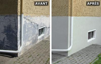 Revêtement acrylique Avant/Après