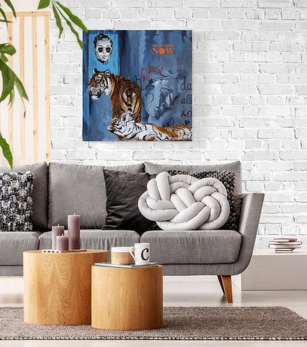 Mokup The wall - Lou Auvray artiste peintre, art figuratif, animalier et surréaliste