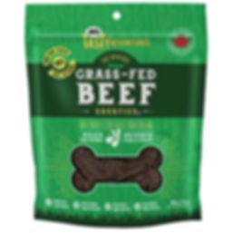 Gâterie au boeuf nourri à l'herbe pour chien