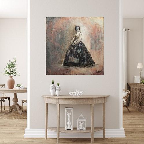 Mokup La mère - D.Deblois artiste peintre