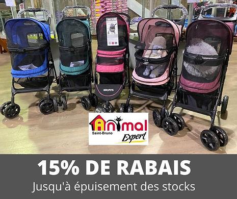 Promotion sur les poussettes pour petits animaux Animal Expert St-Bruno