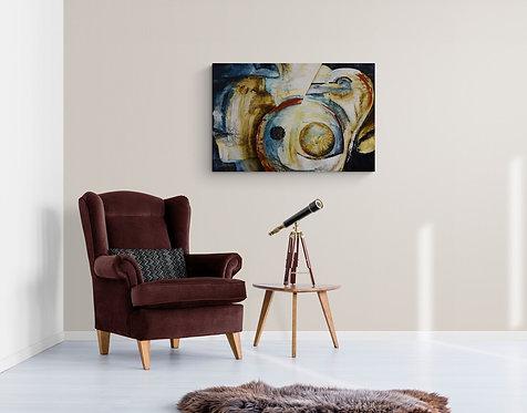 Mokup Notre terre-racine  - Nicole de Passillé artiste peintre - art abstrait